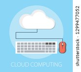 hosting cloud icon  cloud... | Shutterstock .eps vector #1299477052