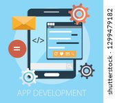 web and app development... | Shutterstock .eps vector #1299479182