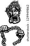 vector illustration of boogie... | Shutterstock .eps vector #129949862