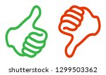 thumbs up   thumbs down  ... | Shutterstock .eps vector #1299503362