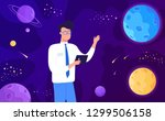 space planets and science... | Shutterstock .eps vector #1299506158