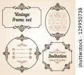 set of vintage ornate frames... | Shutterstock .eps vector #129950738