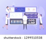 the physician doctor and the... | Shutterstock .eps vector #1299510538