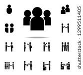 society icon. conversation... | Shutterstock .eps vector #1299511405