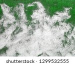 green wall painted with white... | Shutterstock . vector #1299532555