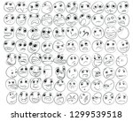 cartoon of various face... | Shutterstock .eps vector #1299539518