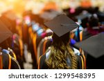 rear view of the university... | Shutterstock . vector #1299548395