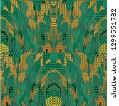 quirky tapestry pattern.... | Shutterstock .eps vector #1299551782