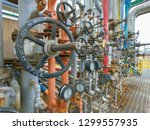 oil and gas refinery industrial ... | Shutterstock . vector #1299557935