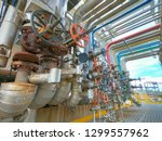 oil and gas refinery industrial ... | Shutterstock . vector #1299557962