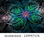 Shiny Glittering Fractal Flowe...