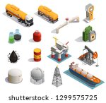 oil petroleum industry... | Shutterstock .eps vector #1299575725