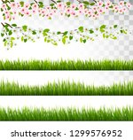 several grass and blossom of...   Shutterstock .eps vector #1299576952