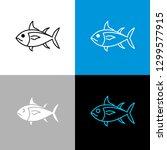 tuna fish icon. line style... | Shutterstock .eps vector #1299577915