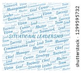 situational leadership word... | Shutterstock . vector #1299595732