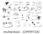 hand drawn emphasis elements ... | Shutterstock .eps vector #1299597232