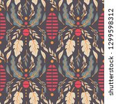 seamless pattern design with... | Shutterstock .eps vector #1299598312