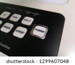 power button  keypad on digital ... | Shutterstock . vector #1299607048