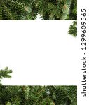 collage of two images with fir... | Shutterstock . vector #1299609565