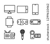 miscellaneous media devices | Shutterstock .eps vector #1299610462