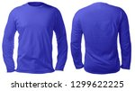 blank long sleeved shirt mock... | Shutterstock . vector #1299622225