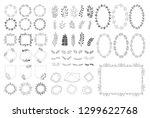 set of summer decorative... | Shutterstock .eps vector #1299622768