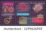 modern urban design of neon... | Shutterstock .eps vector #1299626905