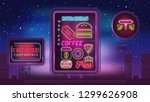 modern design of neon sign with ... | Shutterstock .eps vector #1299626908