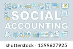 social accounting word concepts ... | Shutterstock .eps vector #1299627925