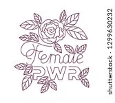 female power label with roses... | Shutterstock .eps vector #1299630232