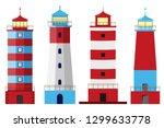 lighthouse  set of lighthouses  ...   Shutterstock .eps vector #1299633778