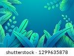 paper spring leaves vector... | Shutterstock .eps vector #1299635878