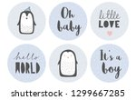 6 cute circle shape tags. tiny... | Shutterstock .eps vector #1299667285