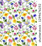 seamless pattern with hand... | Shutterstock . vector #1299676252