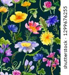 seamless pattern with hand... | Shutterstock . vector #1299676255