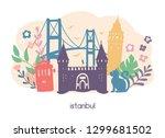 vector illustration istanbul... | Shutterstock .eps vector #1299681502