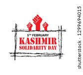 5th february kashmir solidarity ... | Shutterstock .eps vector #1299694015