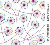 dandelion blowing plant vector... | Shutterstock .eps vector #1299695128