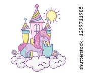 beautiful little unicorn with...   Shutterstock .eps vector #1299711985