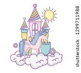 beautiful little unicorn with...   Shutterstock .eps vector #1299711988