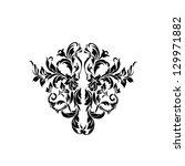 damask pattern | Shutterstock . vector #129971882
