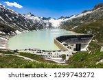 oberaarsee dam and oberaar... | Shutterstock . vector #1299743272