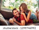 cropped shot of an affectionate ... | Shutterstock . vector #1299746992