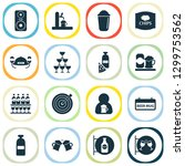 drink icons set with ale mug ... | Shutterstock .eps vector #1299753562