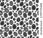 seamless pattern on the easter... | Shutterstock .eps vector #1299755308