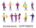 businessman standing vector... | Shutterstock .eps vector #1299768052