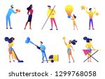cleaning service company... | Shutterstock .eps vector #1299768058