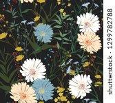 blossom floral seamless pattern.... | Shutterstock .eps vector #1299782788