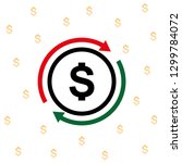 currency circulate icon.... | Shutterstock .eps vector #1299784072