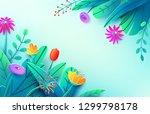 summer background with paper... | Shutterstock .eps vector #1299798178